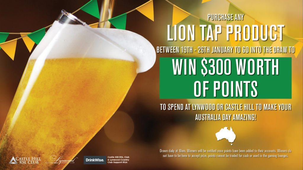 Lion Beverage Promo Aus Day
