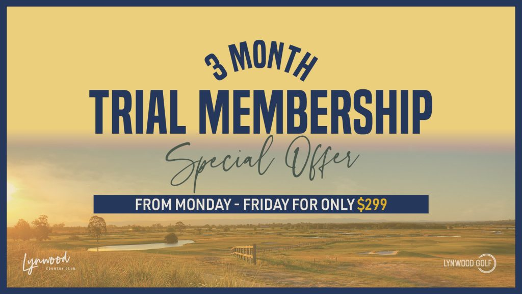 Lynwood Golf 3 month trial membership