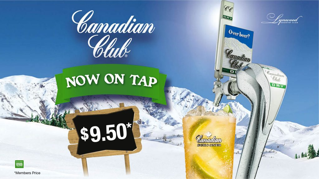 Canadian Club is now on Tap