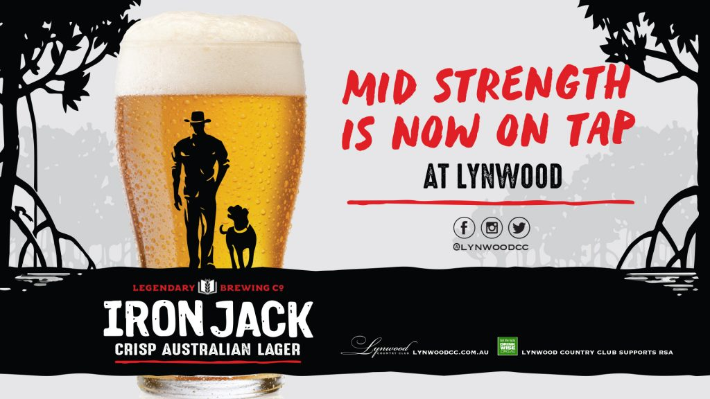 Iron Jack Mid Strength is now on tap.