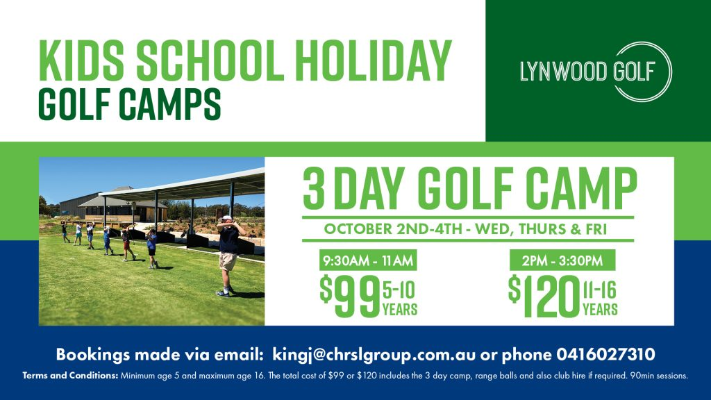 Kids School Holiday Golf Camp