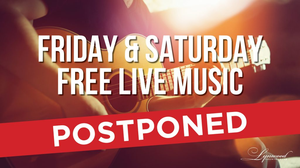 Lynwood Free Live Music Postponed