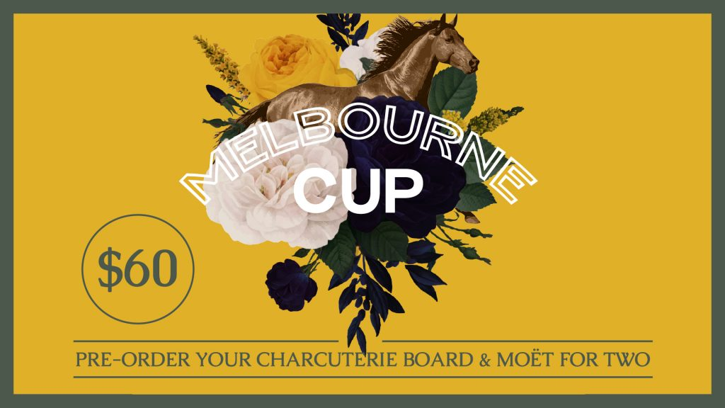 Melbourne Cup Charcuterie board and Moet