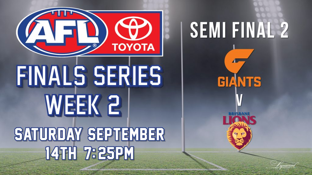 AFL Finals Series: GWS Giants v Brisbane Lions