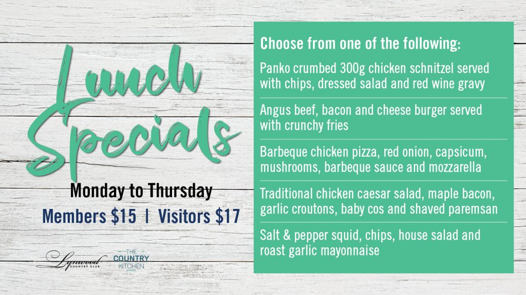 Lunch Specials Mon – Thurs