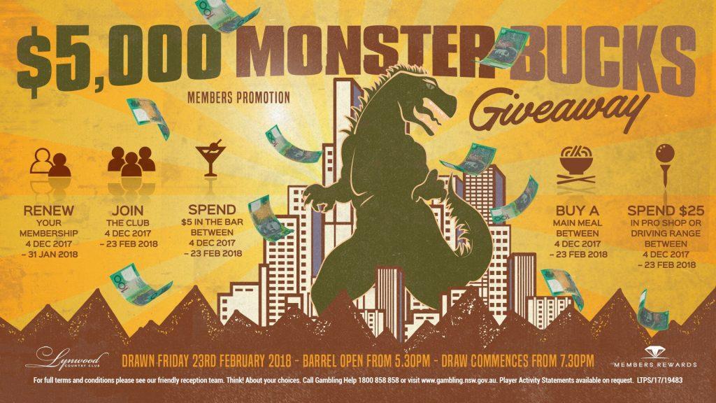 Monster Bucks Renewal Promotion