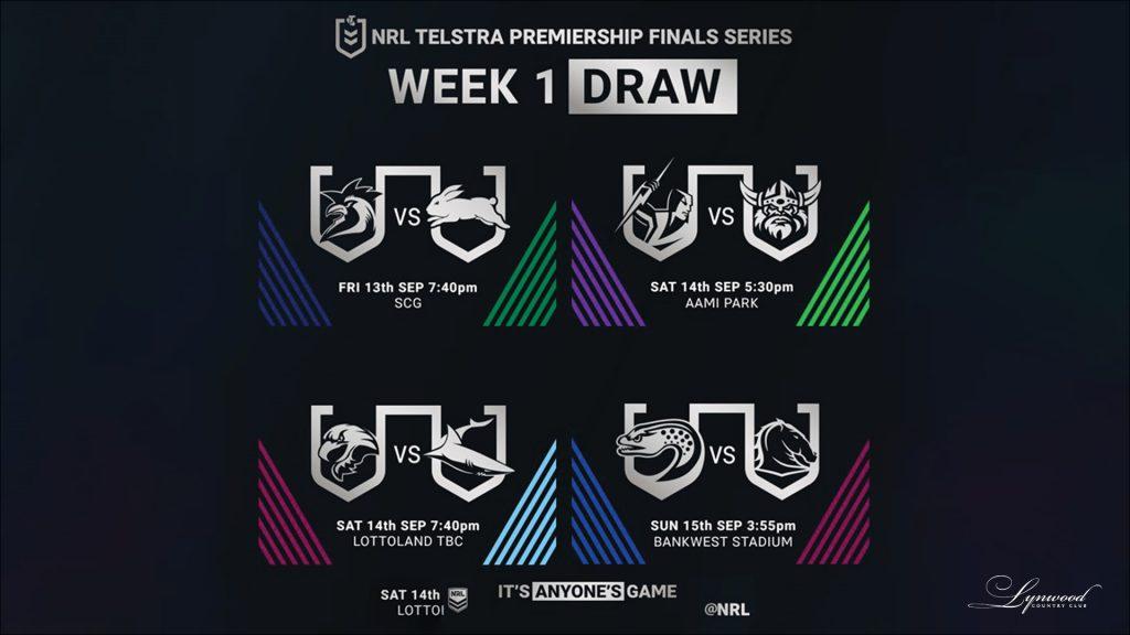NRL Finals Week 1