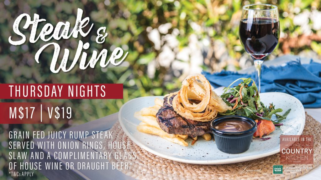 Steak and Wine Thursday Night