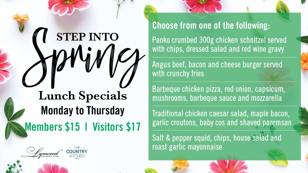 Step into Spring Lunch Specials