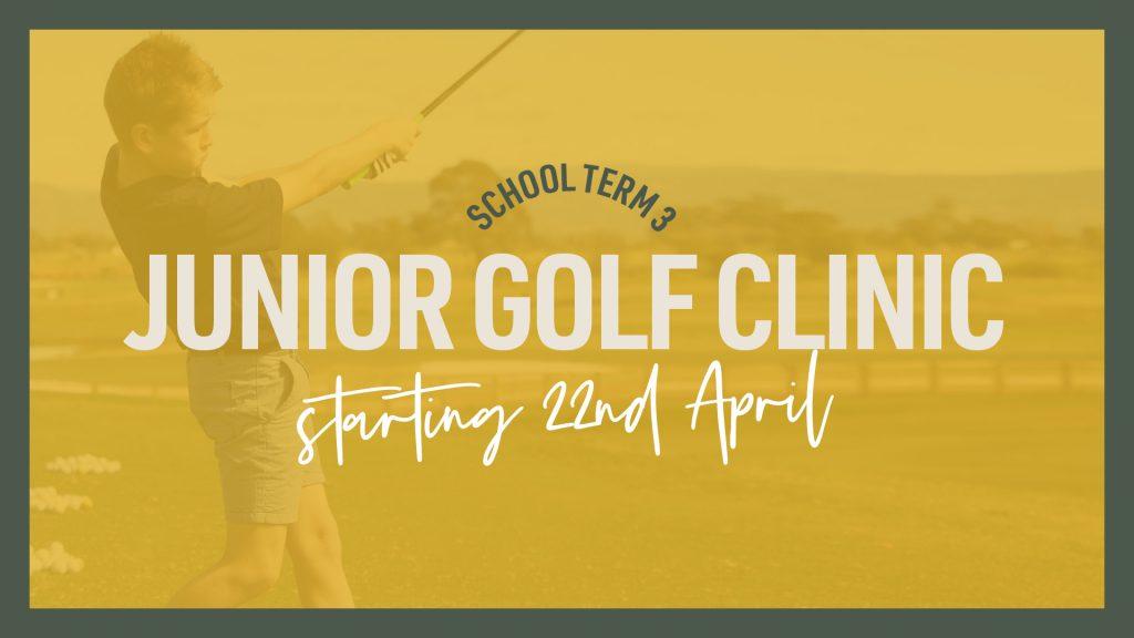 School Term 3 Junior Golf Clinic